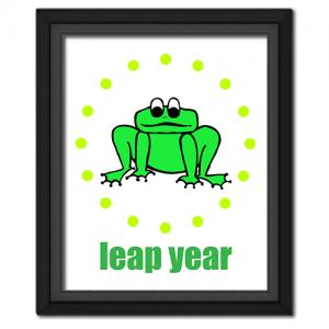 Leap Year Circular Poster
