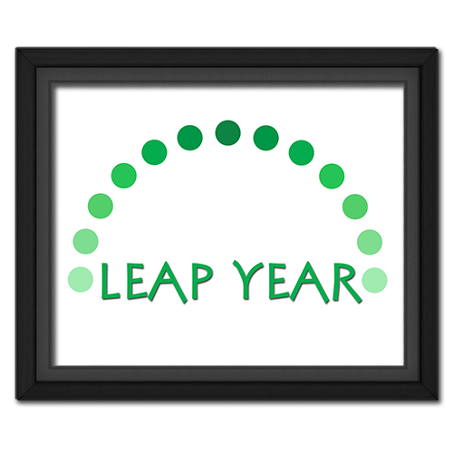 Leap Year Dots Poster * Free Printable Download