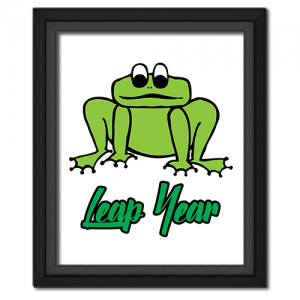 Leap Year Froggie Poster