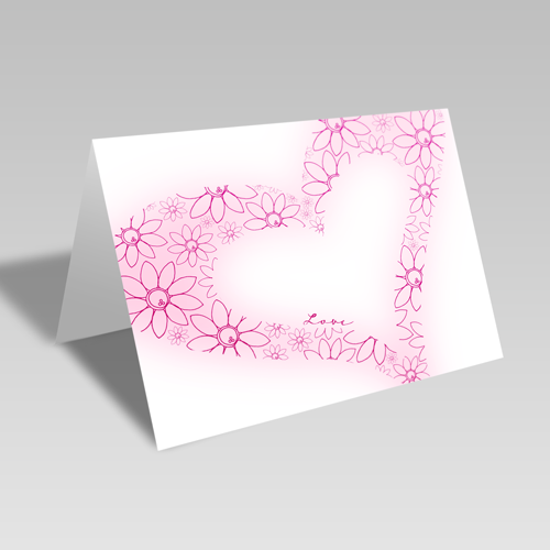 Lovey Dovey Card: Pink