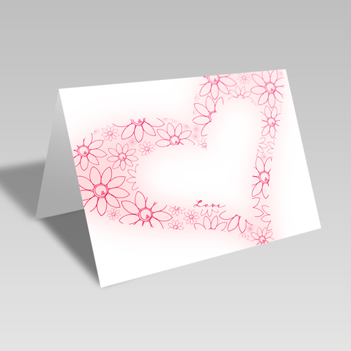 Lovey Dovey Card: Red