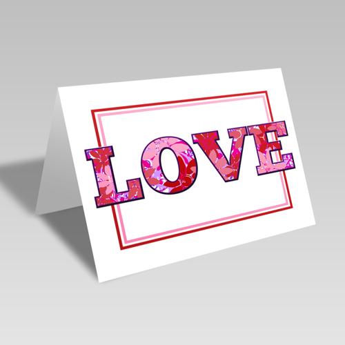Love Flowers Card **Free Printable Download **