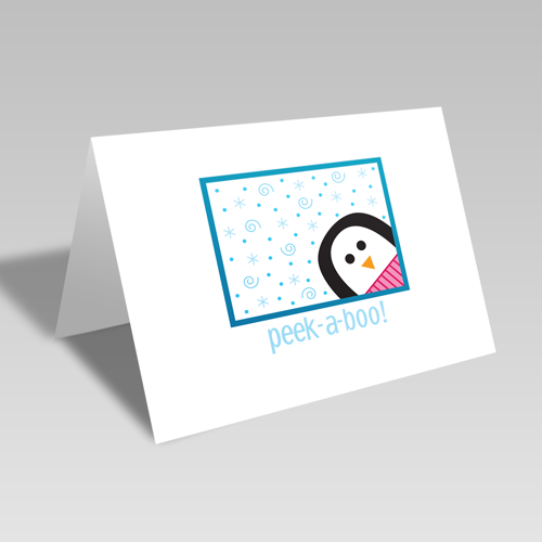 Peek-A-Boo Penguin Card