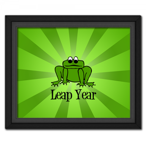 Retro Leap Year Poster