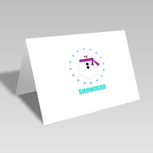 Snowman Circular Card