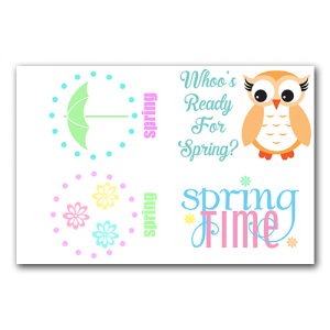 Spring Gift Tags Set