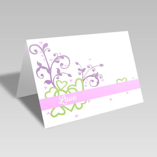 Valentine Fun Card: Pastel
