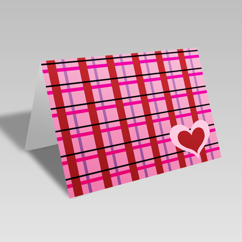 Heart Plaid Card **Free Printable Download **
