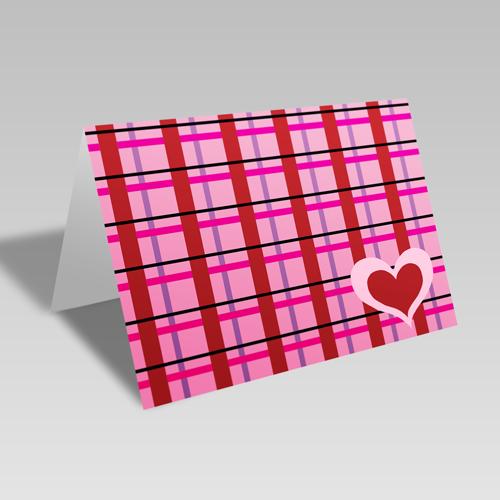 Heart Plaid Card **Free Printable Download **