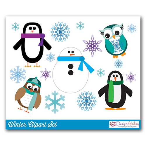 Winter Clip Art Set