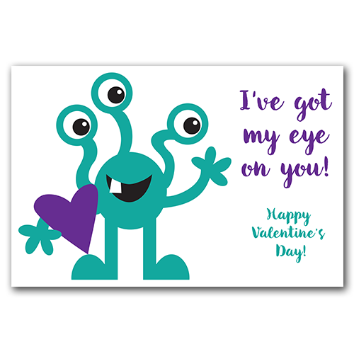 I've Got My Eye on You! Valentine Gift Tags #freedownload #freebie #freeprintable