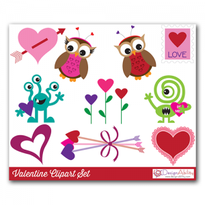 Valentine Clip Art Set