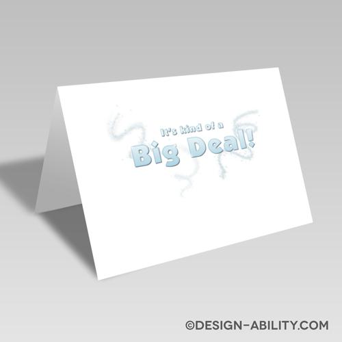 Big Deal Card: Blue