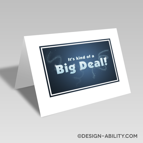 It's Kind of a Big Deal Card #freedownload #freeprintable