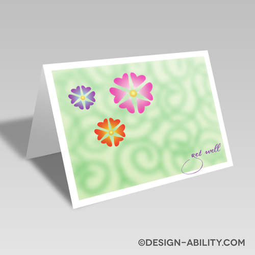 Get Well Flowers Card