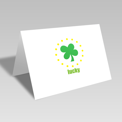 Lucky Clover Circular Card