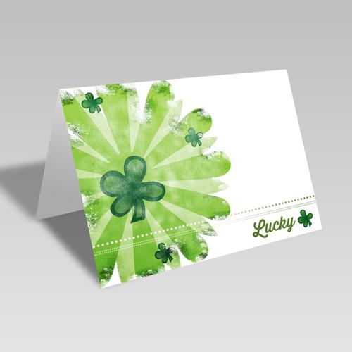 Lucky Grunge Card