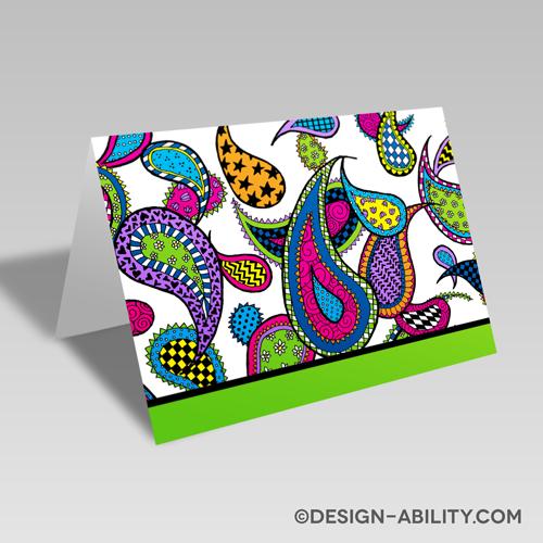 Paisley Card: Green