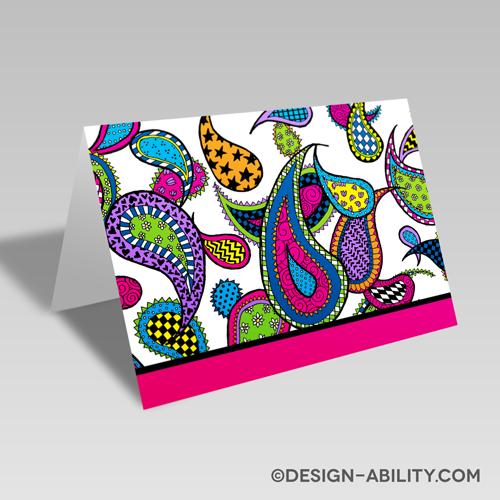 Paisley Card: Pink