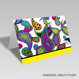 Paisley Card: Yellow