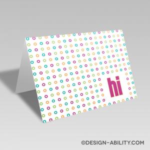 Polka Dot Hi Card