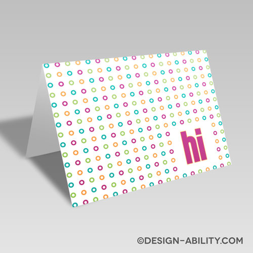 Polka Dot Hi Card