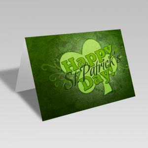 St. Patrick's Clover Card