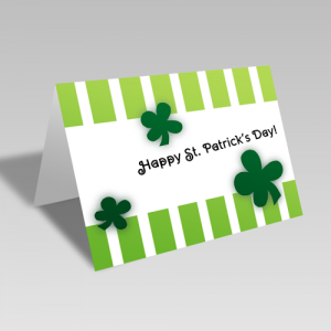 St. Patrick's Stripes Card