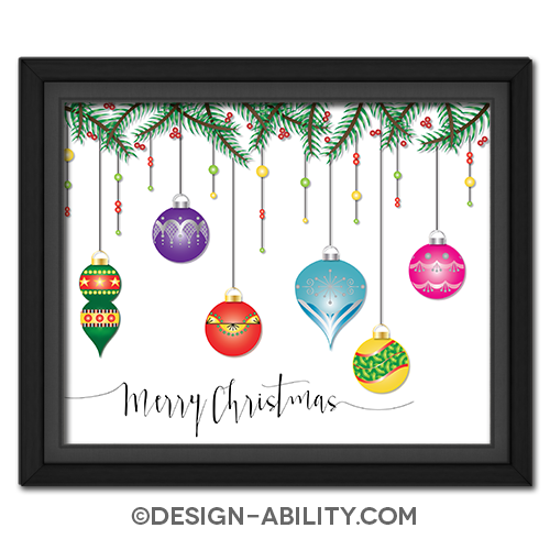 Hanging Christmas Ornaments Picture