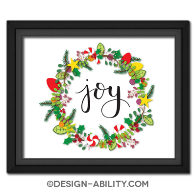 Joy Wreath Picture
