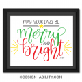 Merry & Bright Lettering Picture