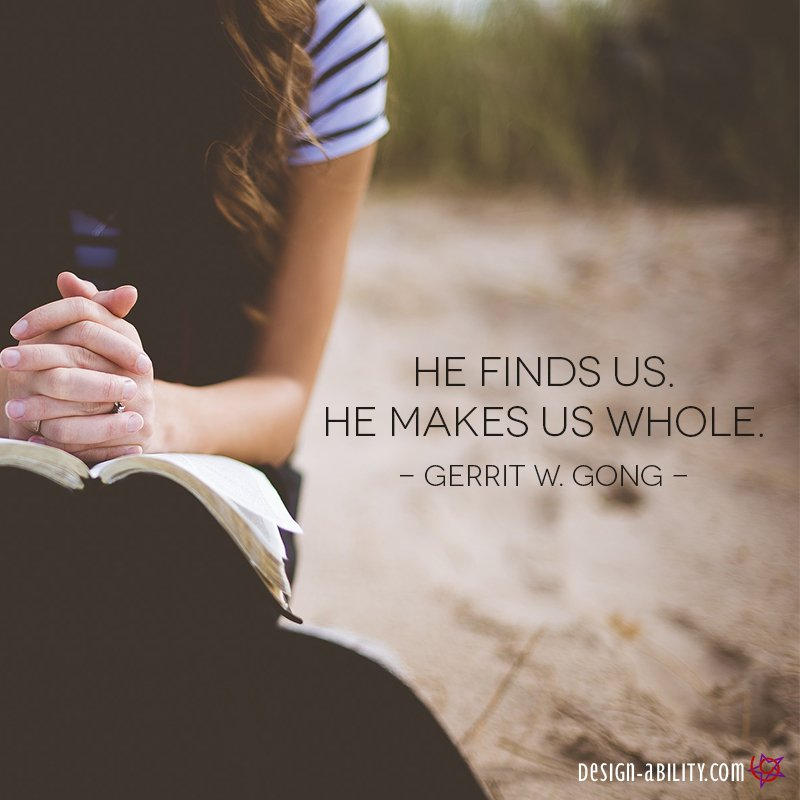 He Finds Us. He Makes Us Whole