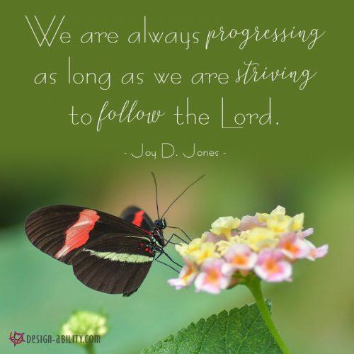 We Are Always Progressing