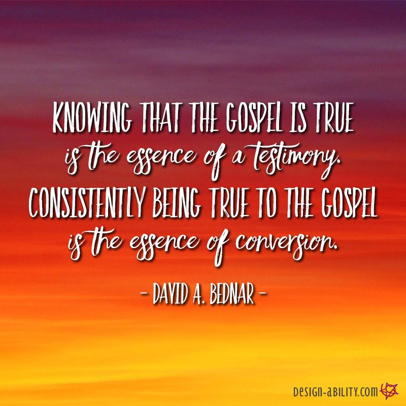 The Essence of Testimony & Conversion