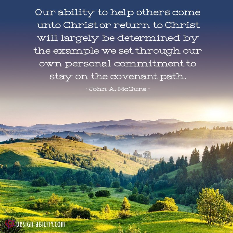 Personal Commitment to Stay on the Covenant Path