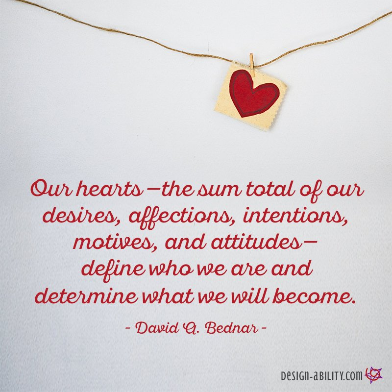 Our Hearts Define Who We Are