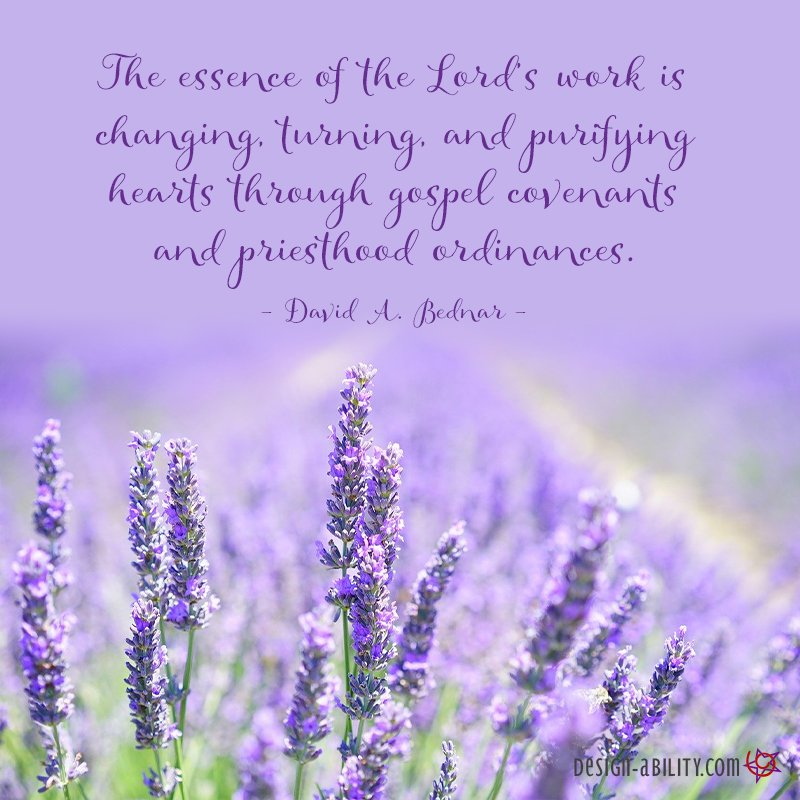 The Essence of the Lord's Work is Changing