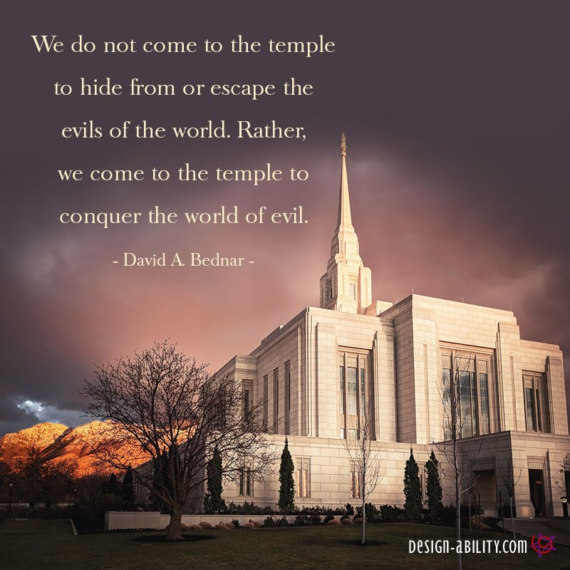 We Come to the Temple to Conquer the World of Evil