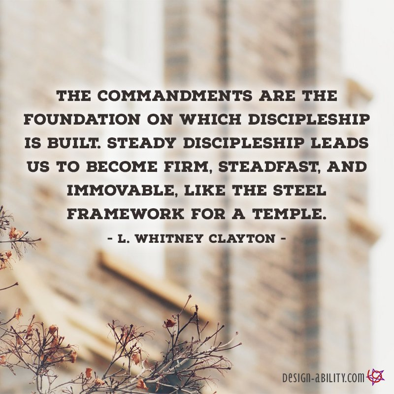 The Commandments are the Foundation of Discipleship