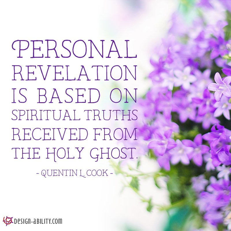 Personal Revelation is Based on Spiritual Truths