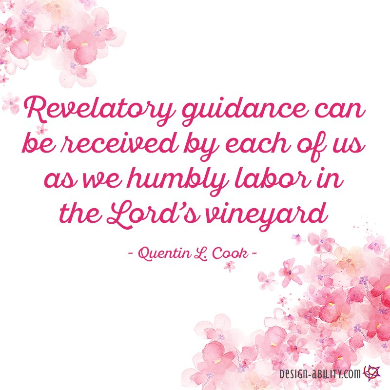 Revelatory Guidance Can Be Received By Each of Us