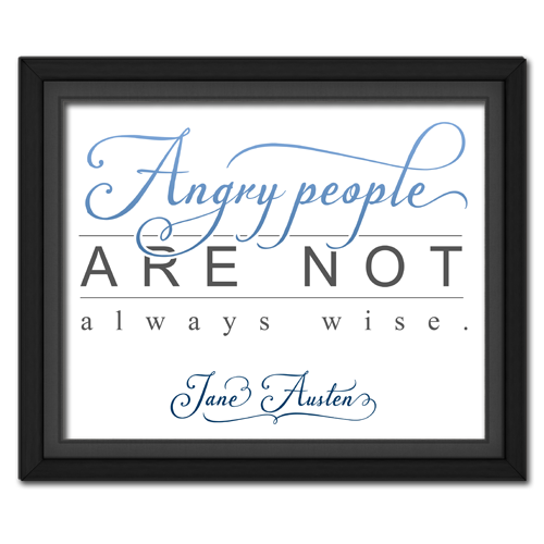 Angry People Blue Framed Quotation Picture