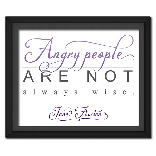 Angry People Purple Framed Quotation Picture