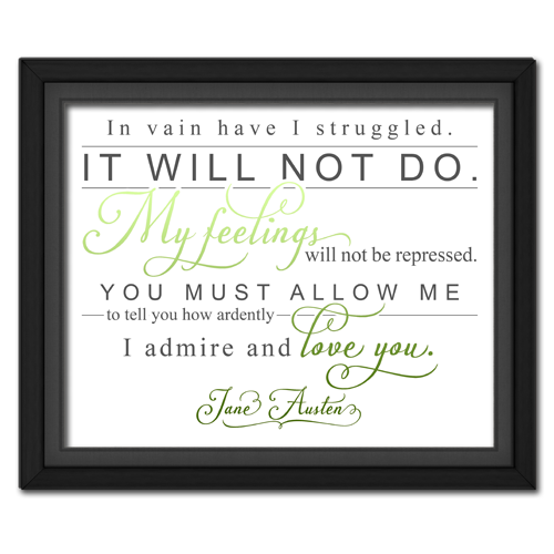 Ardently Green | Quotation Picture