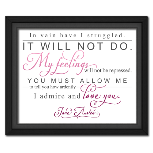 Ardently Pink | Quotation Picture