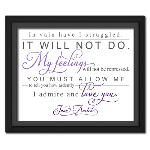 Ardently Purple | Quotation Picture