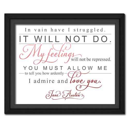Ardently Red | Quotation Picture