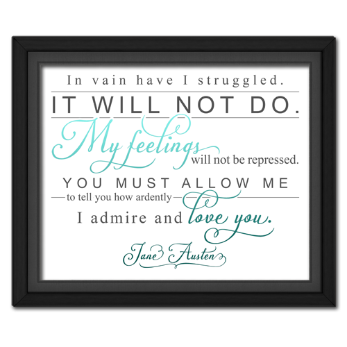 Ardently Turquoise | Quotation Picture