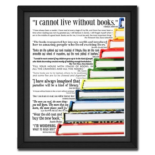 I Cannot Live Without Books | Quote Picture
