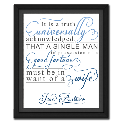 Universal Truth Blue | Quotation Picture